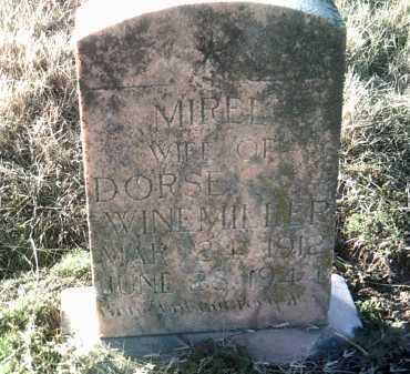 WINEMILLER, MIREL - Jackson County, Arkansas | MIREL WINEMILLER - Arkansas Gravestone Photos