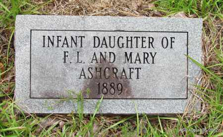 ASHCRAFT, INFANT DAUGHTER - Jefferson County, Arkansas   INFANT DAUGHTER ASHCRAFT - Arkansas Gravestone Photos