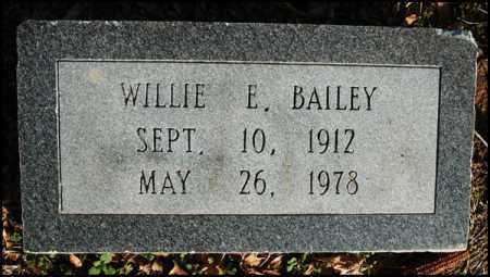 BAILEY, WILLIE E - Jefferson County, Arkansas | WILLIE E BAILEY - Arkansas Gravestone Photos