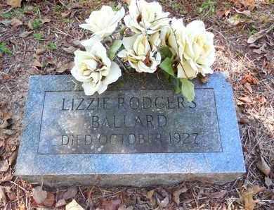 RODGERS BALLARD, LIZZIE - Jefferson County, Arkansas | LIZZIE RODGERS BALLARD - Arkansas Gravestone Photos