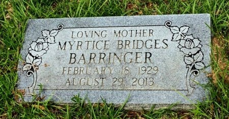 BARRINGER, MYRTICE - Jefferson County, Arkansas   MYRTICE BARRINGER - Arkansas Gravestone Photos