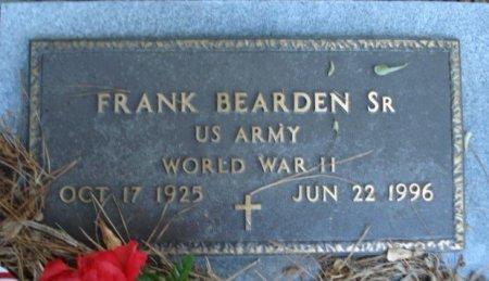 BEARDEN SR (VETERAN WWII), FRANK - Jefferson County, Arkansas | FRANK BEARDEN SR (VETERAN WWII) - Arkansas Gravestone Photos
