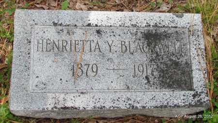 YORK BLACKWELL, HENRIETTA - Jefferson County, Arkansas   HENRIETTA YORK BLACKWELL - Arkansas Gravestone Photos