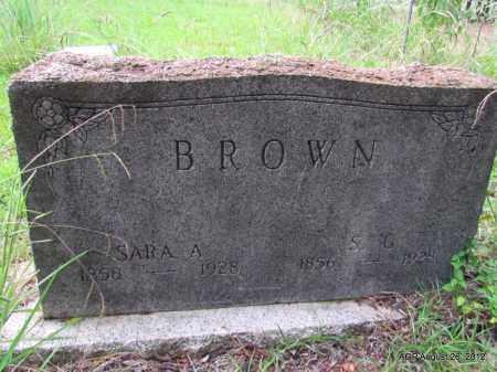 BROWN, S G - Jefferson County, Arkansas   S G BROWN - Arkansas Gravestone Photos
