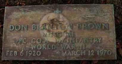 BROWN (VETERAN WWII), DON BLANTON - Jefferson County, Arkansas | DON BLANTON BROWN (VETERAN WWII) - Arkansas Gravestone Photos