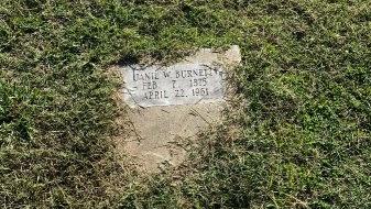 BURNETT, JANIE W. - Jefferson County, Arkansas | JANIE W. BURNETT - Arkansas Gravestone Photos