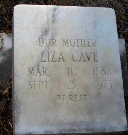 CAVE, LIZA - Jefferson County, Arkansas | LIZA CAVE - Arkansas Gravestone Photos