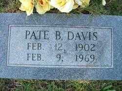 DAVIS, PATE B - Jefferson County, Arkansas | PATE B DAVIS - Arkansas Gravestone Photos