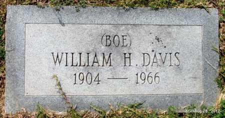 "DAVIS, WILLIAM H ""BOE"" - Jefferson County, Arkansas | WILLIAM H ""BOE"" DAVIS - Arkansas Gravestone Photos"