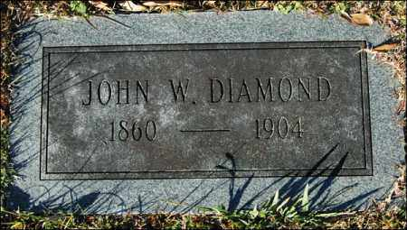 DIAMOND, JOHN W - Jefferson County, Arkansas | JOHN W DIAMOND - Arkansas Gravestone Photos