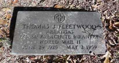FLEETWOOD, SR (VETERAN WWII), THOMAS JEFFERSON - Jefferson County, Arkansas   THOMAS JEFFERSON FLEETWOOD, SR (VETERAN WWII) - Arkansas Gravestone Photos