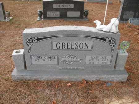 GREESON, MARY INEZ - Jefferson County, Arkansas | MARY INEZ GREESON - Arkansas Gravestone Photos