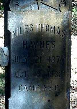 HAYNES, MILES THOMAS (CLOSEUP) - Jefferson County, Arkansas | MILES THOMAS (CLOSEUP) HAYNES - Arkansas Gravestone Photos