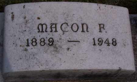 HILL, MACON P (CLOSE-UP) - Jefferson County, Arkansas   MACON P (CLOSE-UP) HILL - Arkansas Gravestone Photos