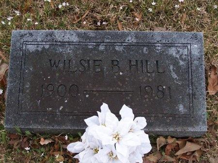 HILL, WILSIE B. - Jefferson County, Arkansas | WILSIE B. HILL - Arkansas Gravestone Photos
