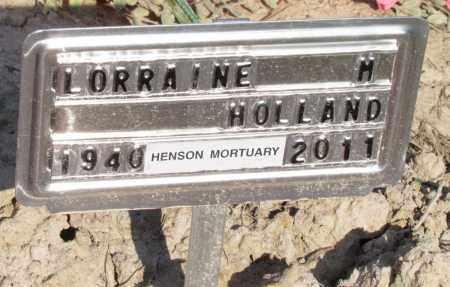 HOLLAND, LORRAINE M - Jefferson County, Arkansas | LORRAINE M HOLLAND - Arkansas Gravestone Photos