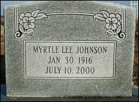 JOHNSON, MYRTLE LEE - Jefferson County, Arkansas | MYRTLE LEE JOHNSON - Arkansas Gravestone Photos