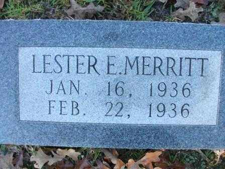 MERRITT, LESTER E - Jefferson County, Arkansas | LESTER E MERRITT - Arkansas Gravestone Photos