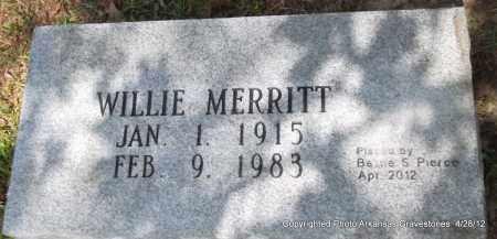 MERRITT, WILLIE - Jefferson County, Arkansas | WILLIE MERRITT - Arkansas Gravestone Photos