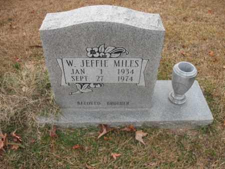 MILES, W JEFFIE - Jefferson County, Arkansas | W JEFFIE MILES - Arkansas Gravestone Photos