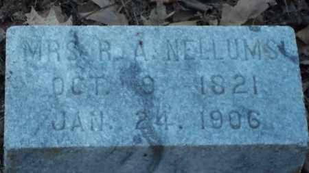 NELLUMS, R A, MRS - Jefferson County, Arkansas   R A, MRS NELLUMS - Arkansas Gravestone Photos