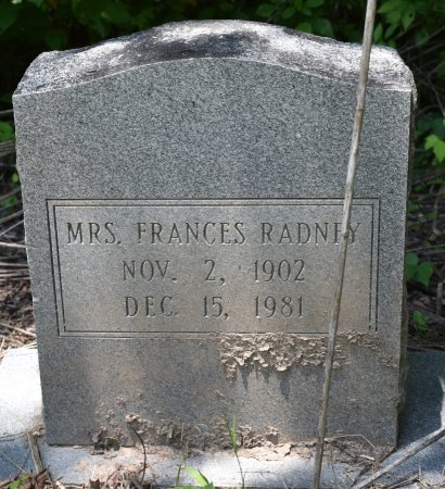 RADNEY, FRANCES - Jefferson County, Arkansas | FRANCES RADNEY - Arkansas Gravestone Photos