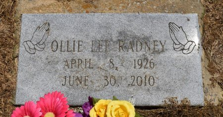 RADNEY, OLLIE LEE - Jefferson County, Arkansas | OLLIE LEE RADNEY - Arkansas Gravestone Photos