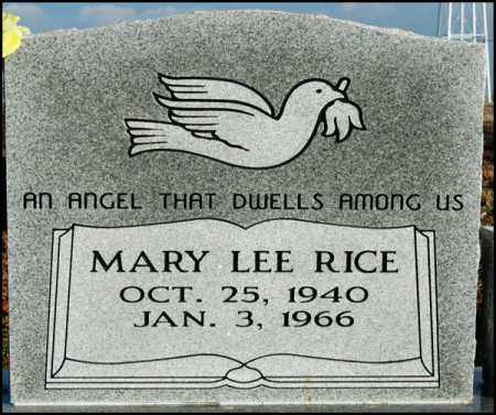 RICE, MARY LEE - Jefferson County, Arkansas | MARY LEE RICE - Arkansas Gravestone Photos
