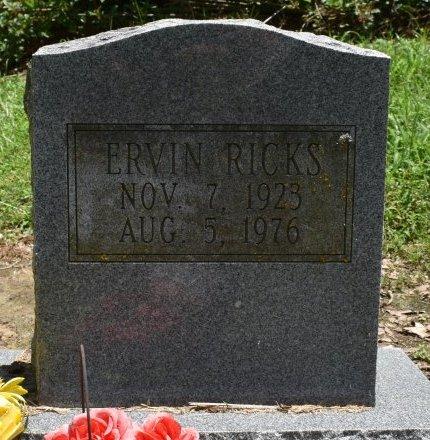 RICKS, ERVIN - Jefferson County, Arkansas | ERVIN RICKS - Arkansas Gravestone Photos