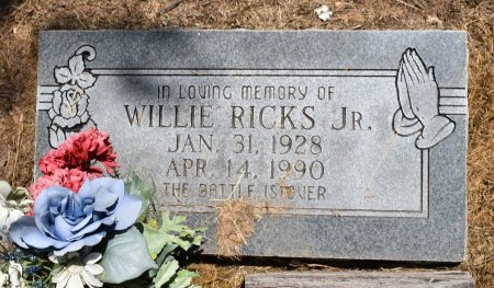 RICKS, WILLIE - Jefferson County, Arkansas | WILLIE RICKS - Arkansas Gravestone Photos