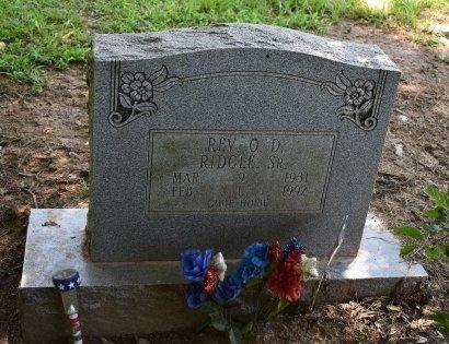 RIDGLE, O D - Jefferson County, Arkansas   O D RIDGLE - Arkansas Gravestone Photos