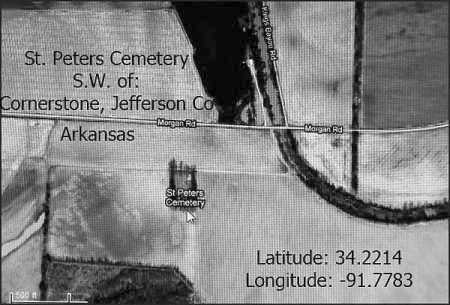 *SATELLITE IMAGE,  - Jefferson County, Arkansas |  *SATELLITE IMAGE - Arkansas Gravestone Photos