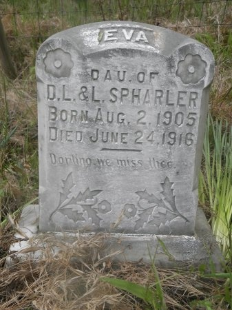 SPHARLER, EVELYN EVA - Jefferson County, Arkansas | EVELYN EVA SPHARLER - Arkansas Gravestone Photos