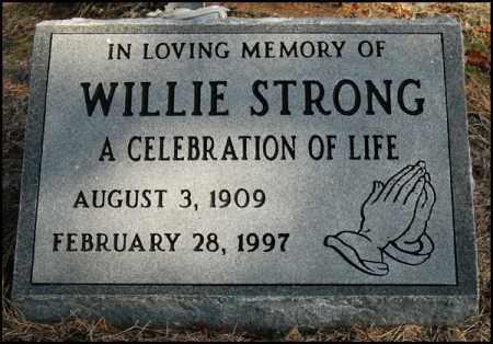 STRONG, WILLIE - Jefferson County, Arkansas | WILLIE STRONG - Arkansas Gravestone Photos