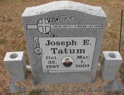TATUM, JOSEPH E - Jefferson County, Arkansas | JOSEPH E TATUM - Arkansas Gravestone Photos