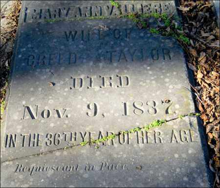 VALLIERE TAYLOR, MARY ANN - Jefferson County, Arkansas | MARY ANN VALLIERE TAYLOR - Arkansas Gravestone Photos