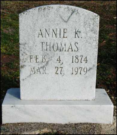 THOMAS, ANNIE K - Jefferson County, Arkansas   ANNIE K THOMAS - Arkansas Gravestone Photos