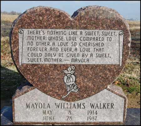 WILLIAMS WALKER, MAYOLA - Jefferson County, Arkansas   MAYOLA WILLIAMS WALKER - Arkansas Gravestone Photos