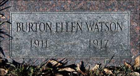 WATSON, BURTON ELLEN - Jefferson County, Arkansas | BURTON ELLEN WATSON - Arkansas Gravestone Photos