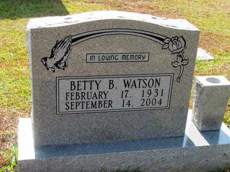 WATSON, BETTY B - Jefferson County, Arkansas   BETTY B WATSON - Arkansas Gravestone Photos