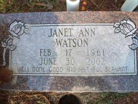 WATSON, JANET ANN - Jefferson County, Arkansas | JANET ANN WATSON - Arkansas Gravestone Photos