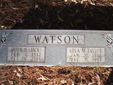 "WATSON, JOHN H ""JACK"" - Jefferson County, Arkansas | JOHN H ""JACK"" WATSON - Arkansas Gravestone Photos"