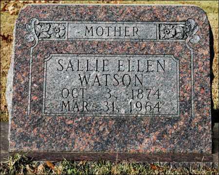 WATSON, SALLIE ELLEN - Jefferson County, Arkansas | SALLIE ELLEN WATSON - Arkansas Gravestone Photos