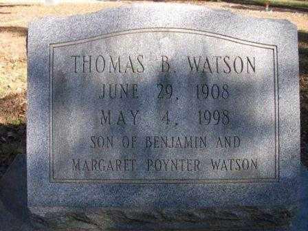 WATSON, THOMAS B - Jefferson County, Arkansas   THOMAS B WATSON - Arkansas Gravestone Photos