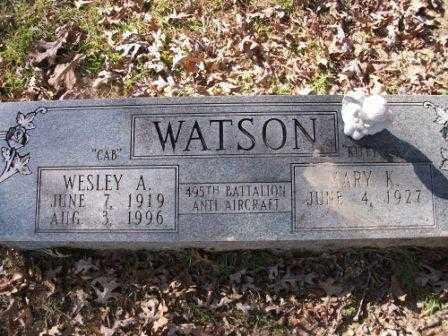 "WATSON, WESLEY A ""CAB"" - Jefferson County, Arkansas | WESLEY A ""CAB"" WATSON - Arkansas Gravestone Photos"