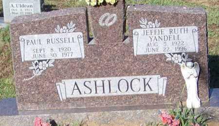 YANDELL ASHLOCK, JEFFIE RUTH - Johnson County, Arkansas | JEFFIE RUTH YANDELL ASHLOCK - Arkansas Gravestone Photos