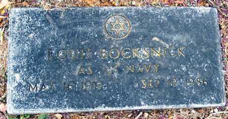 BOCKSNICK  (VETERAN), LOUIS - Johnson County, Arkansas | LOUIS BOCKSNICK  (VETERAN) - Arkansas Gravestone Photos