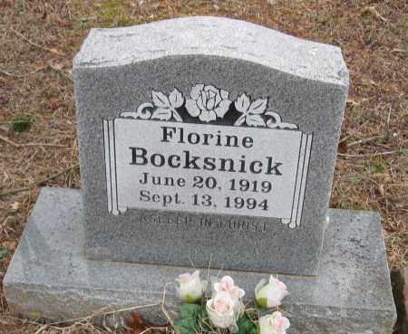 BOCKSNICK, FLORINE - Johnson County, Arkansas   FLORINE BOCKSNICK - Arkansas Gravestone Photos