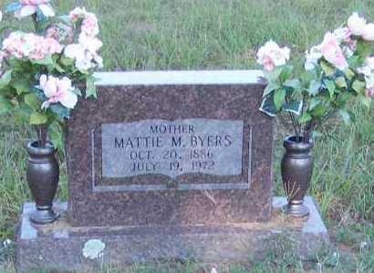 BYERS, MATTIE M. - Johnson County, Arkansas | MATTIE M. BYERS - Arkansas Gravestone Photos