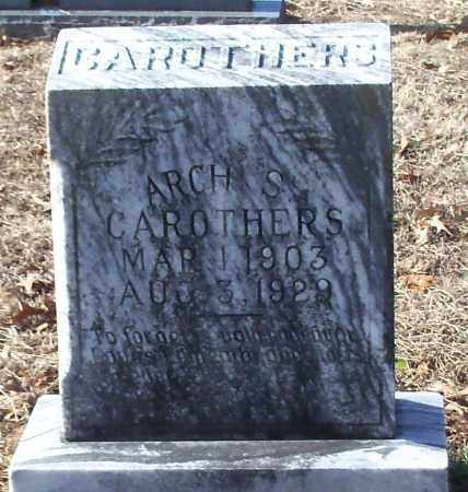 CAROTHERS, ARCH S - Johnson County, Arkansas   ARCH S CAROTHERS - Arkansas Gravestone Photos